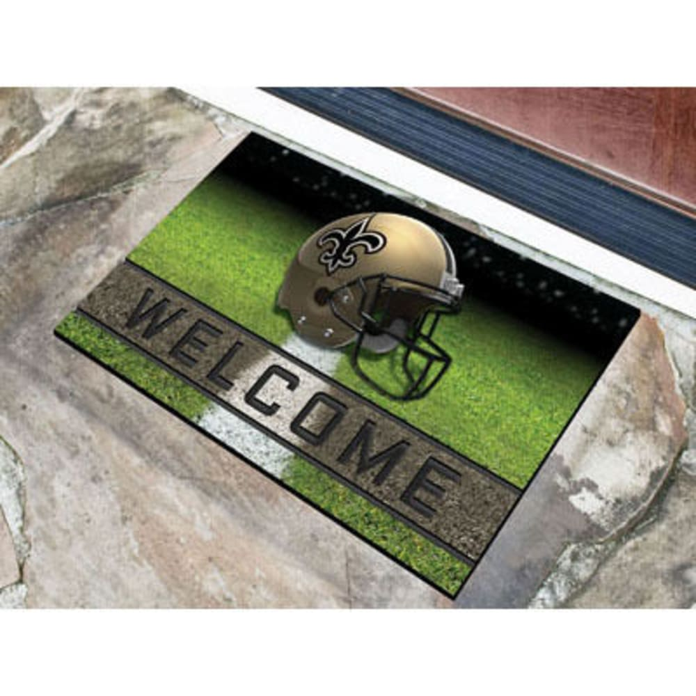 Fan Mats New Orleans Saints Crumb Rubber Door Mat, Black/old Gold