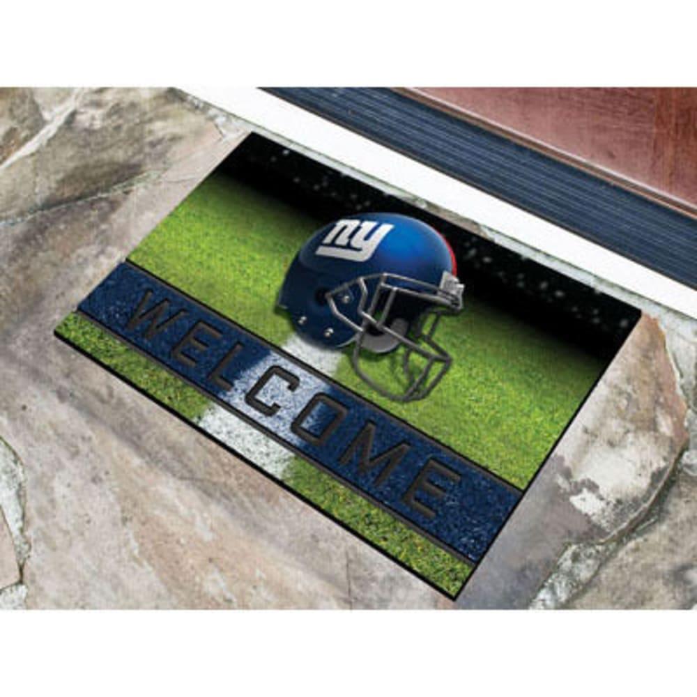 Fan Mats New York Giants Crumb Rubber Door Mat, Black/blue