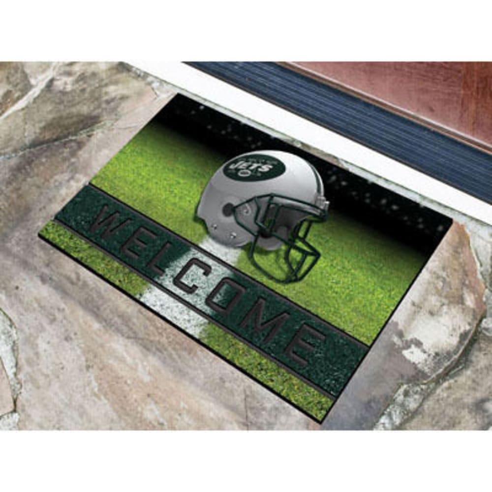 Fan Mats New York Jets Crumb Rubber Door Mat, Black/green