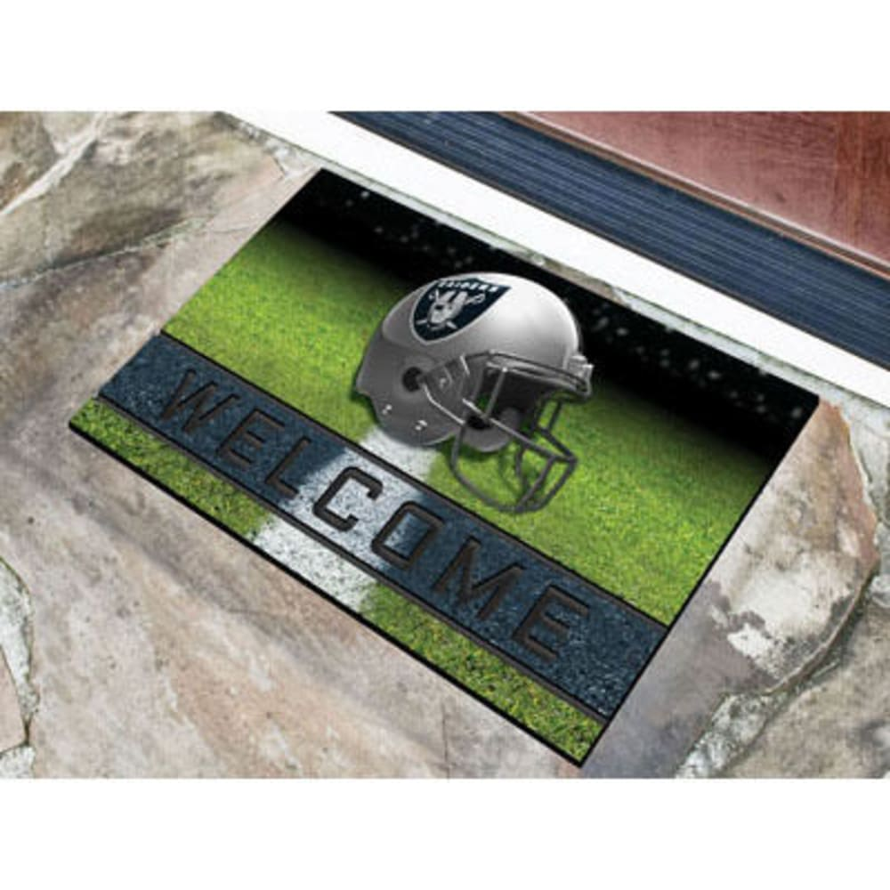 Fan Mats Oakland Raiders Crumb Rubber Door Mat, Black/blue
