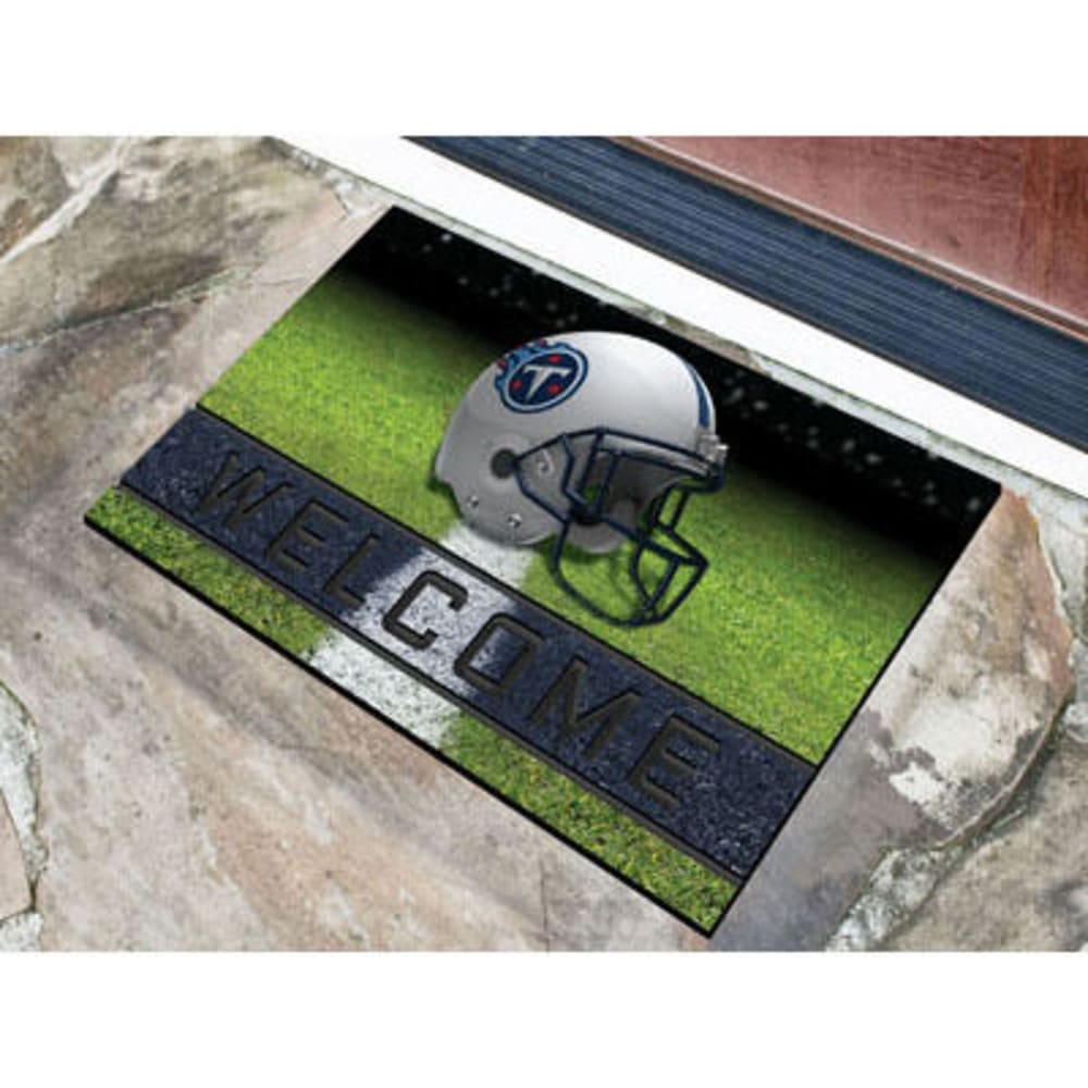 Fan Mats Tennessee Titans Crumb Rubber Door Mat, Black/blue
