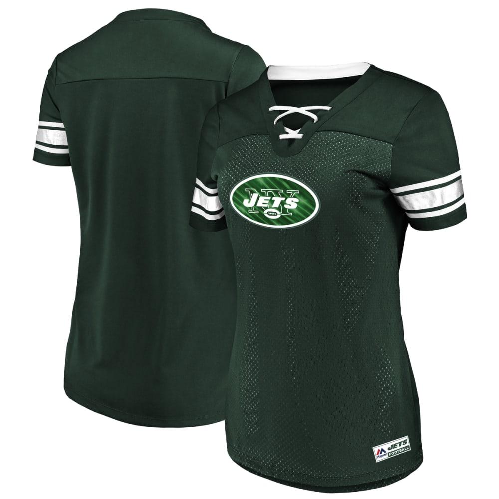NEW YORK JETS Women's Draft Me Jersey Short-Sleeve Top L