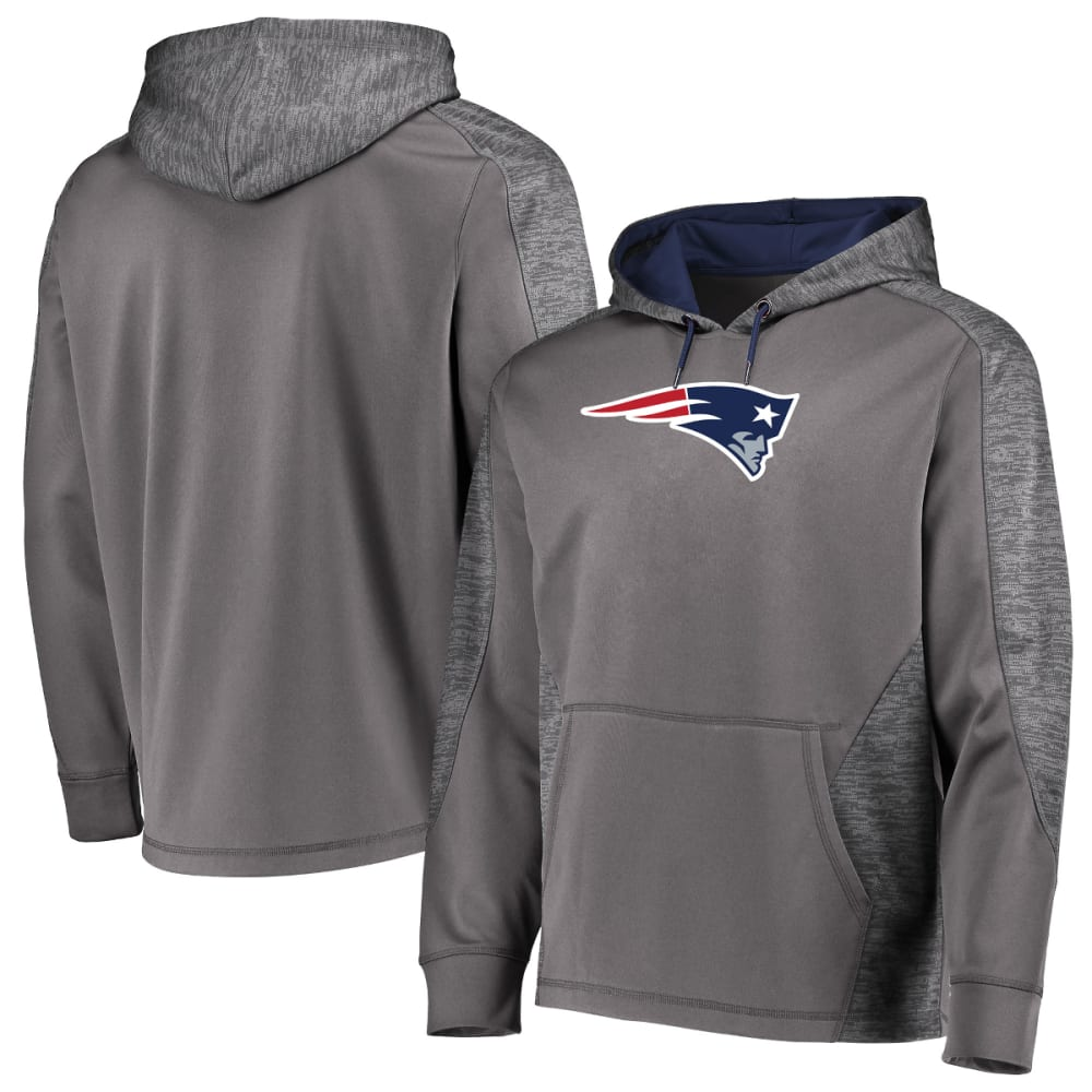NEW ENGLAND PATRIOTS Men's Armor Poly Pullover Hoodie - CHARCOAL