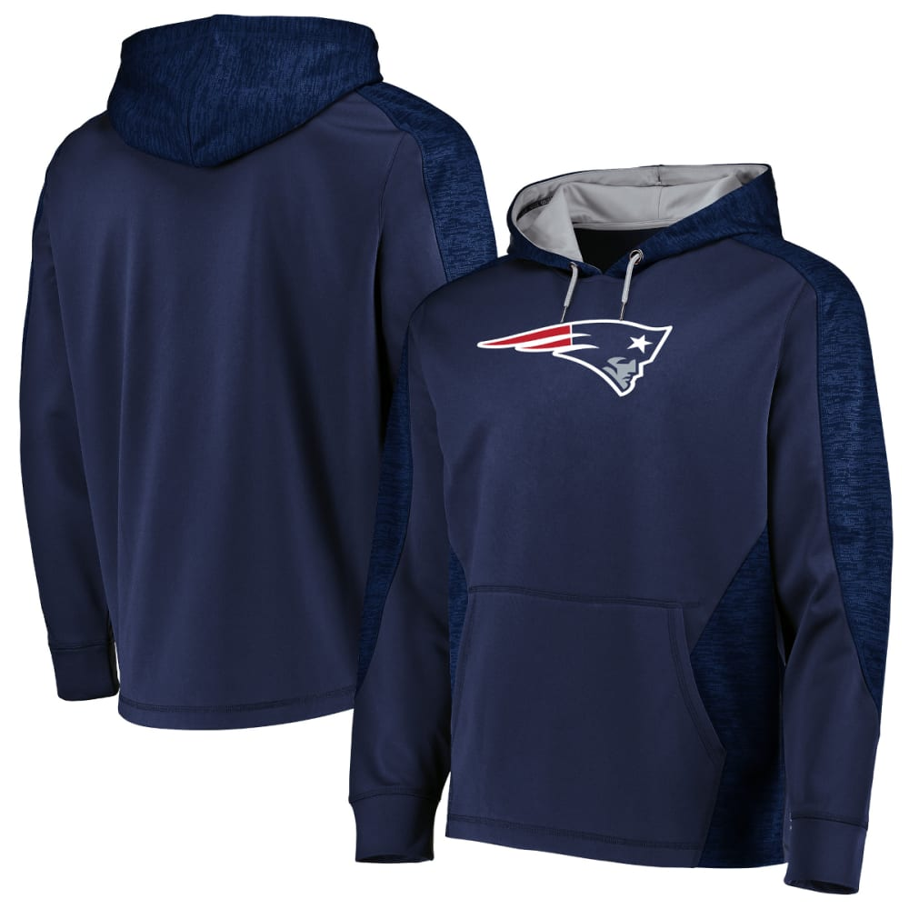 NEW ENGLAND PATRIOTS Men's Armor Poly Pullover Hoodie - NAVY