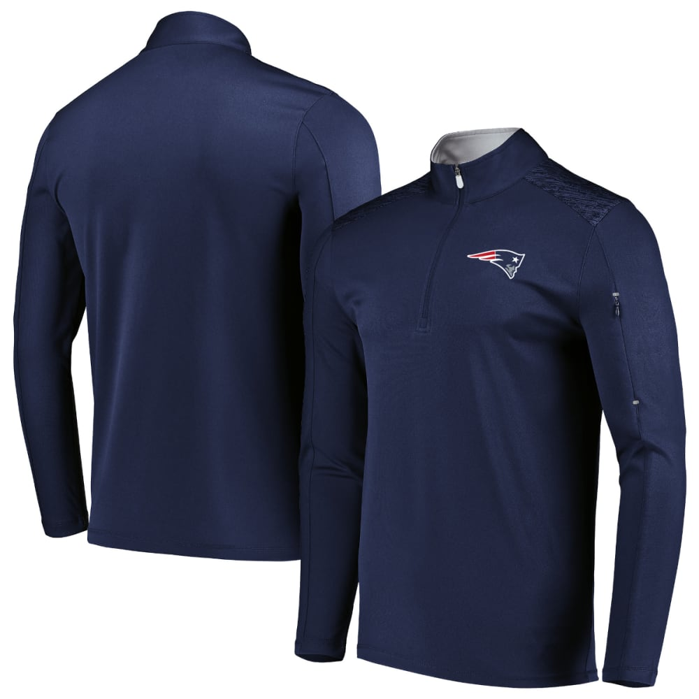 NEW ENGLAND PATRIOTS Men's Ultra Streak ½ Zip Pullover - NAVY