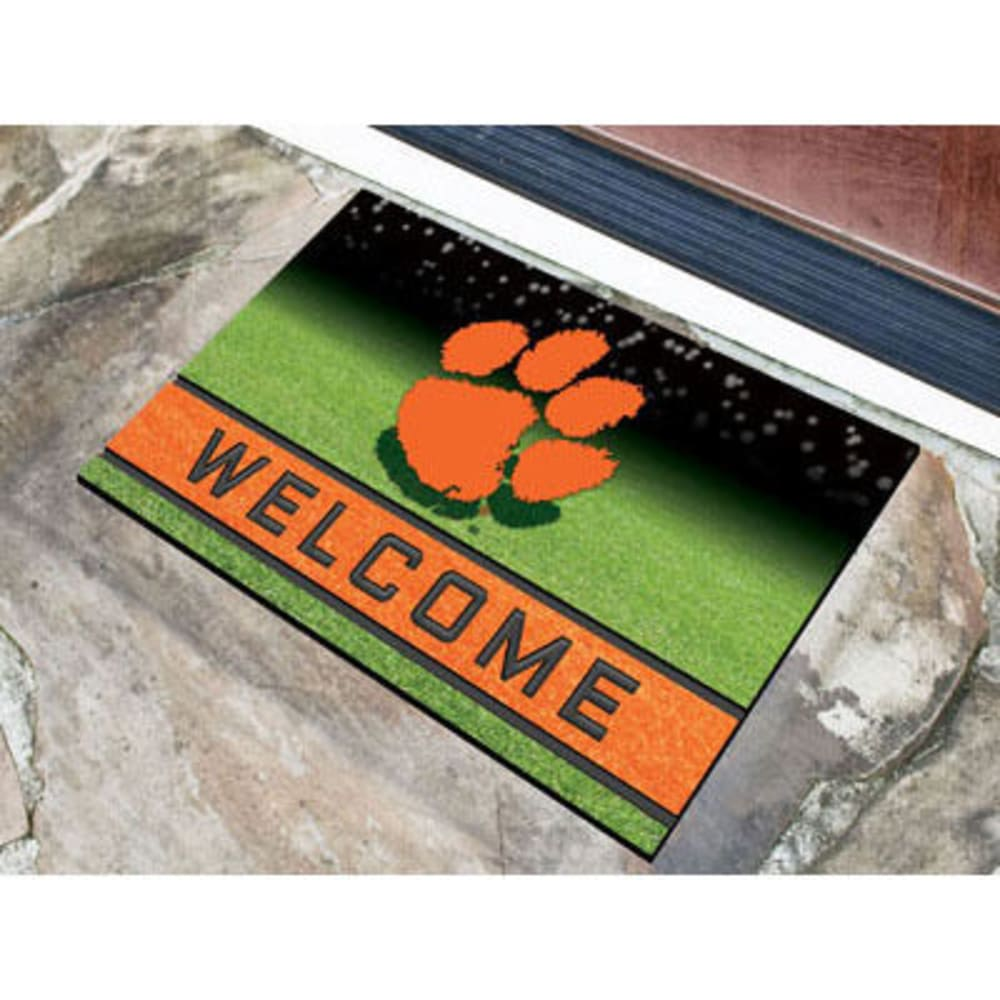 Fan Mats Clemson University Crumb Rubber Door Mat, Black/orange