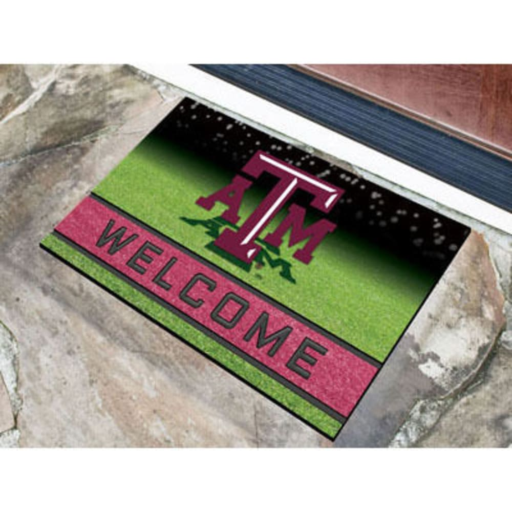 Fan Mats Texas A&m University Crumb Rubber Door Mat, Black/maroon