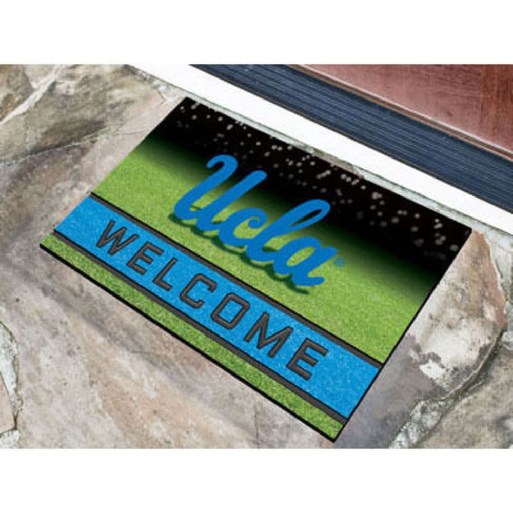 Fan Mats University Of California (Ucla) Crumb Rubber Door Mat, Black/blue