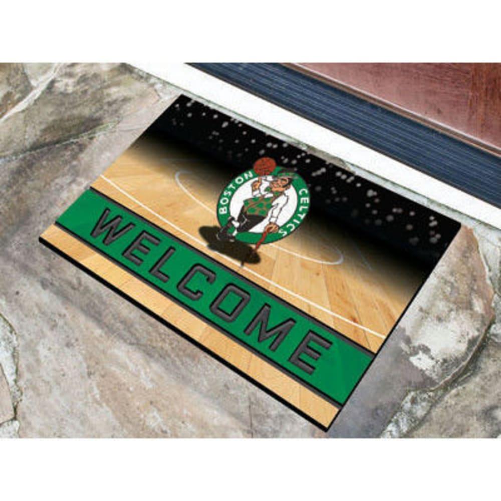 FAN MATS Boston Celtics Crumb Rubber Door Mat, Black/Green - BLACK/GREEN