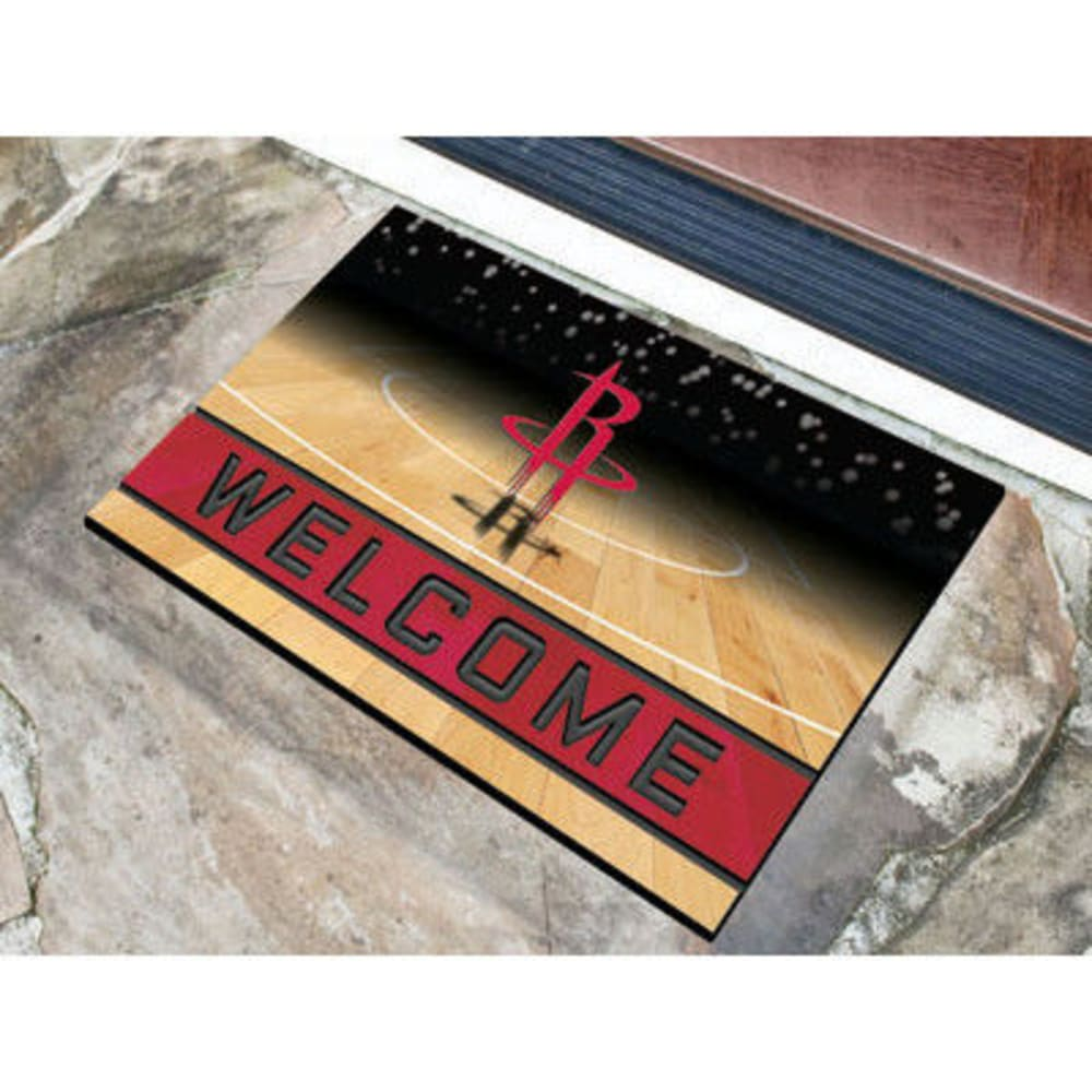 Fan Mats Houston Rockets Crumb Rubber Door Mat, Black/red