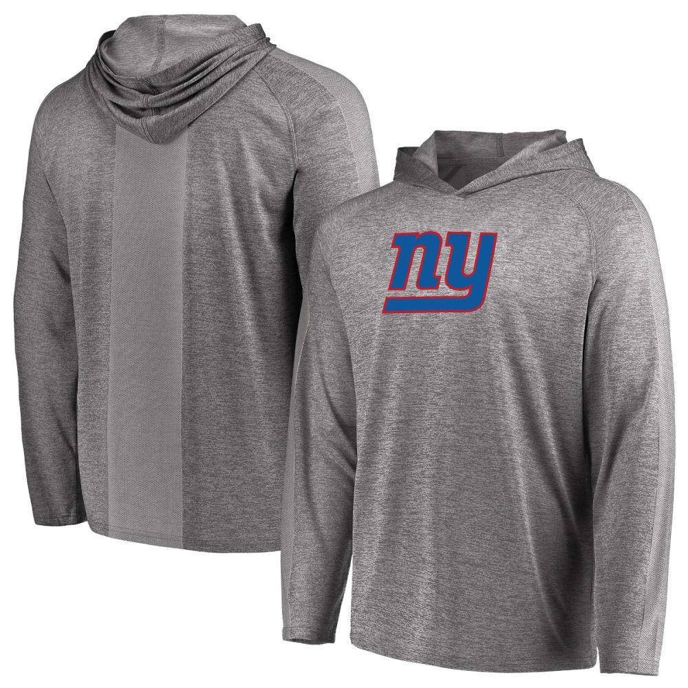 New York Giants Men's Fan Flow Long-Sleeve Pullover Hoodie - Blue, L