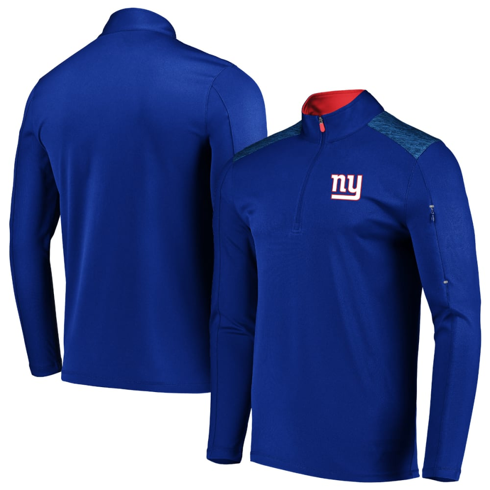 NEW YORK GIANTS Men's Ultra Streak Half Zip Pullover - ROYAL BLUE