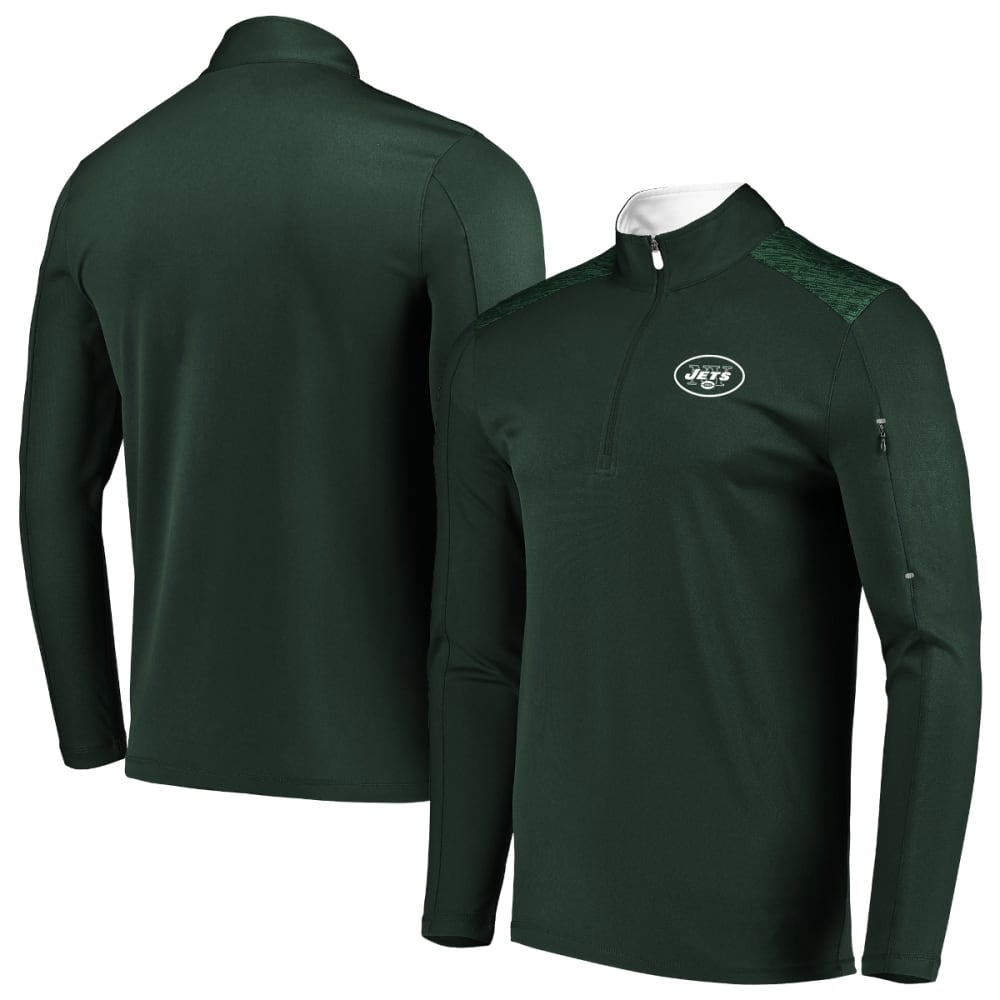 NEW YORK JETS Men's Ultra Streak Half Zip Pullover - GREEN