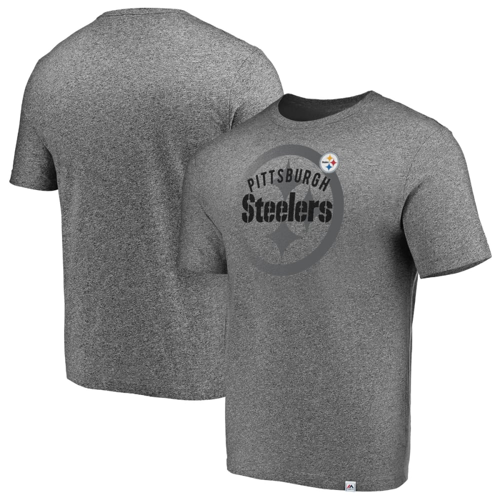 PITTSBURGH STEELERS Men's Static Fade Short-Sleeve Tee - GREY