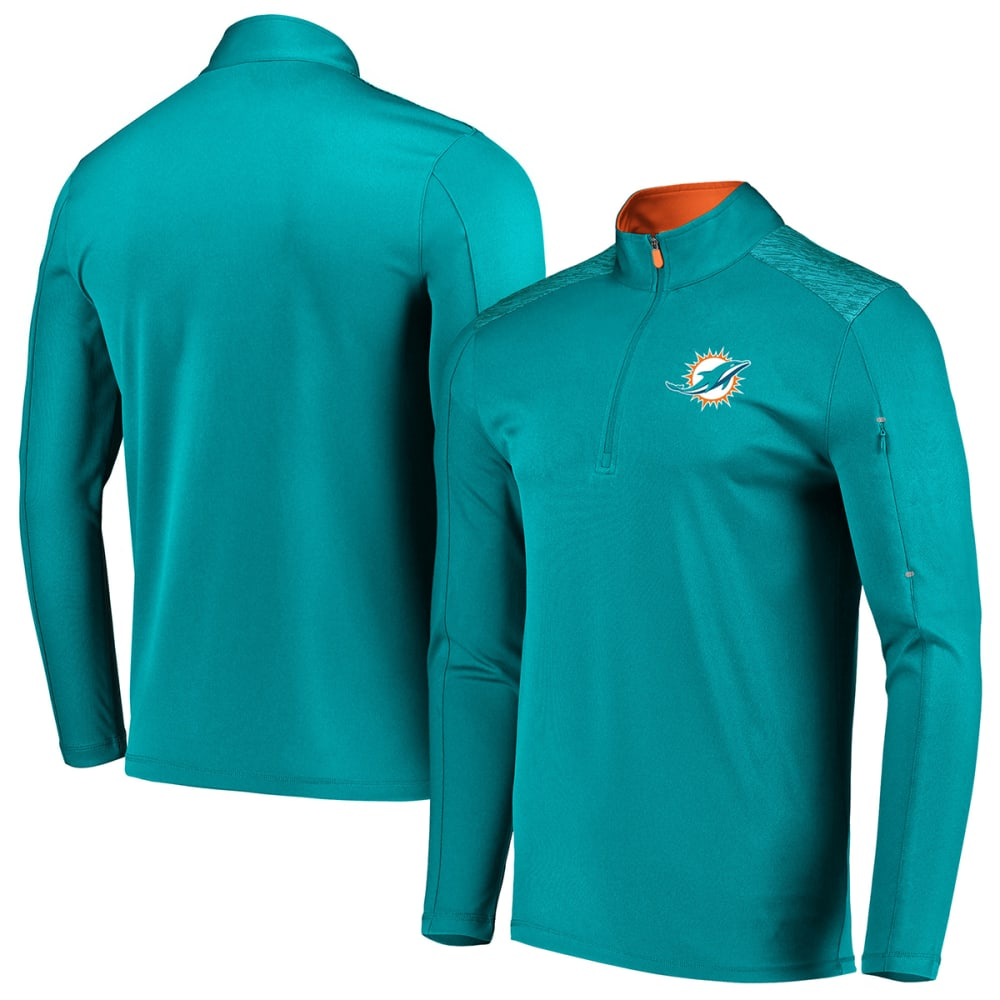 MIAMI DOLPHINS Men's Ultra Streak Half Zip Pullover - AQUA