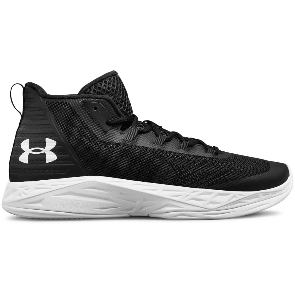 UNDER ARMOUR Men's Jet Mid Basketball Shoes - BLACK -001