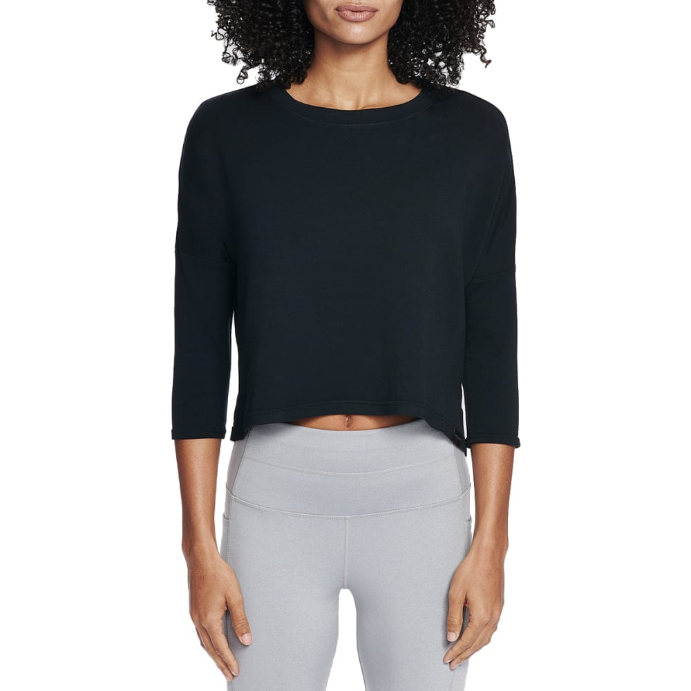 SKECHERS Women's Day Off ¾-Sleeve Top - BLK