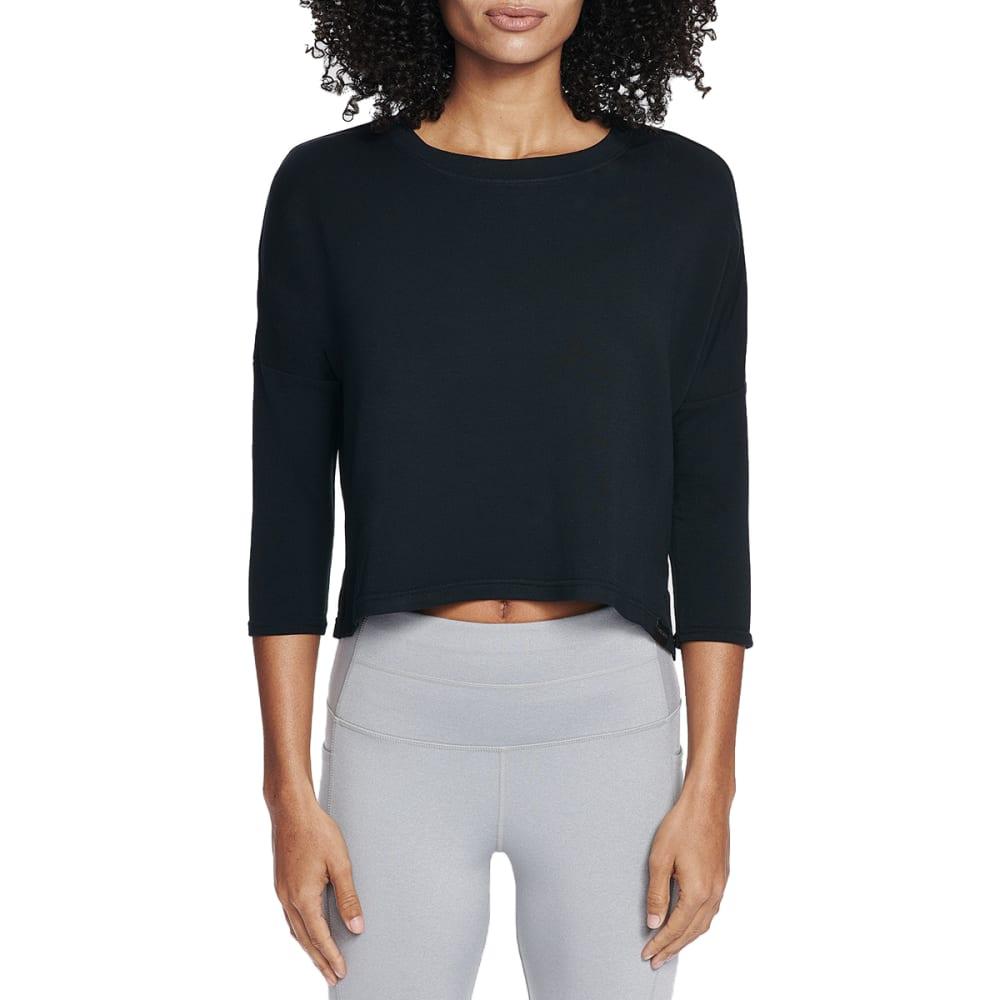 Skechers Women's Day Off  3/4-Sleeve Top - Black, S