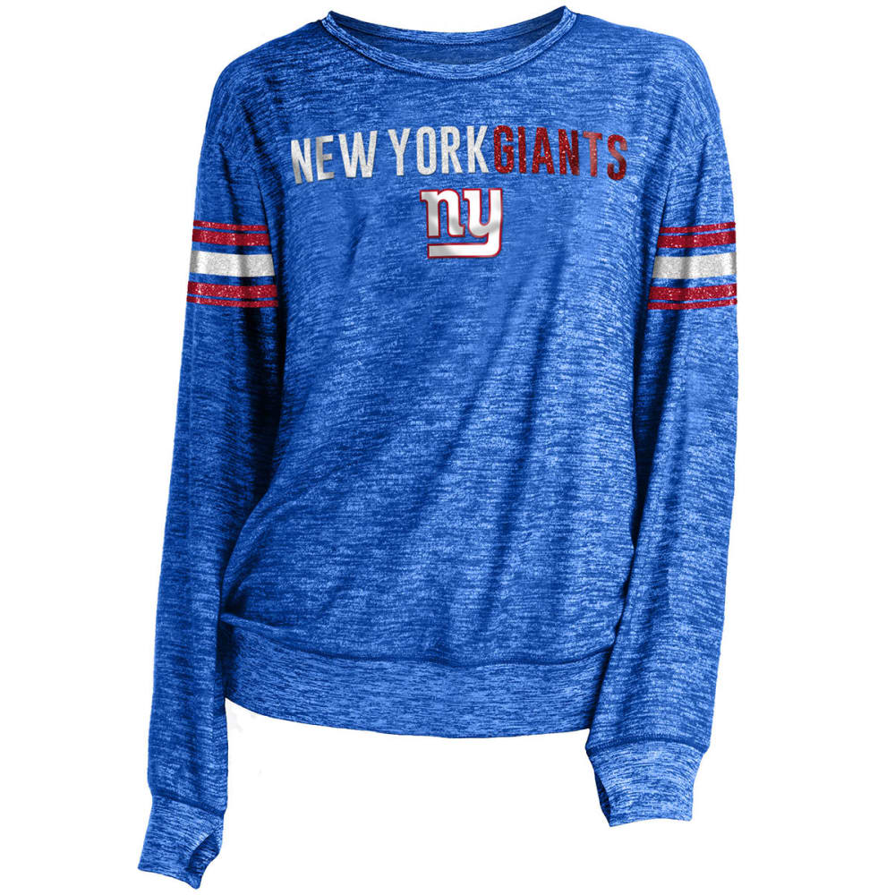 NEW YORK GIANTS Women's Space-Dye Sweater Knit Pullover - ROYAL BLUE