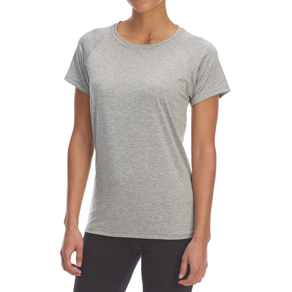 BCC Women's Heather Quick-Dry Short-Sleeve Raglan Tee - GRAY