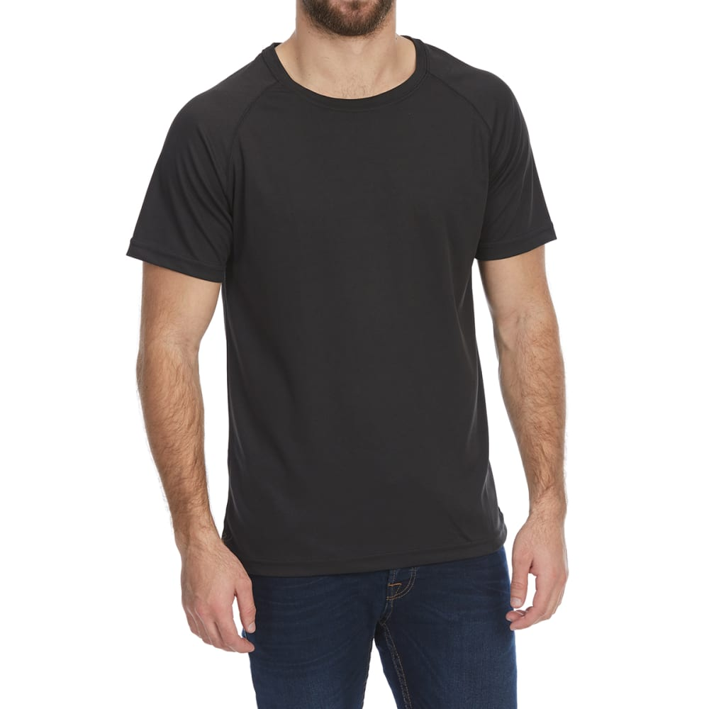 BCC Men's Mesh Short-Sleeve Raglan Tee - BLACK