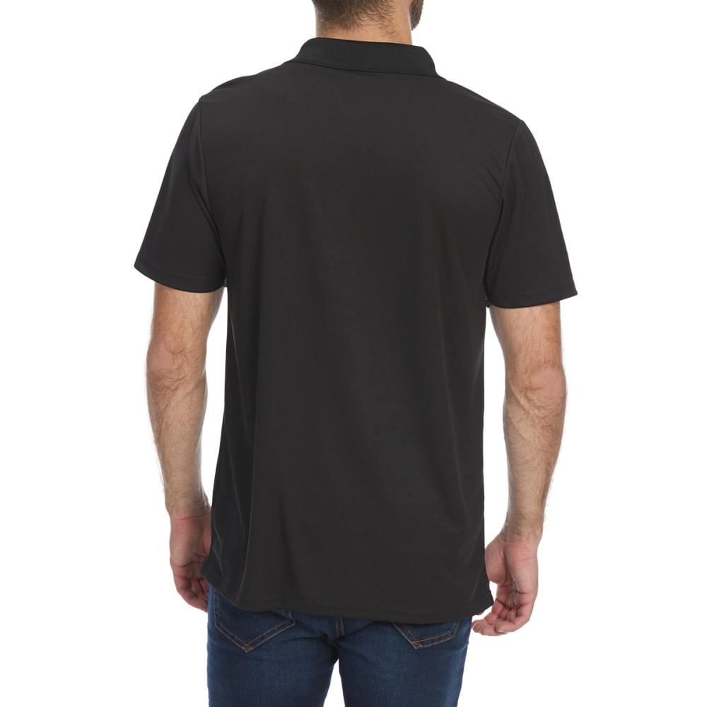 BCC Men's Short-Sleeve Polo Shirt - BLACK
