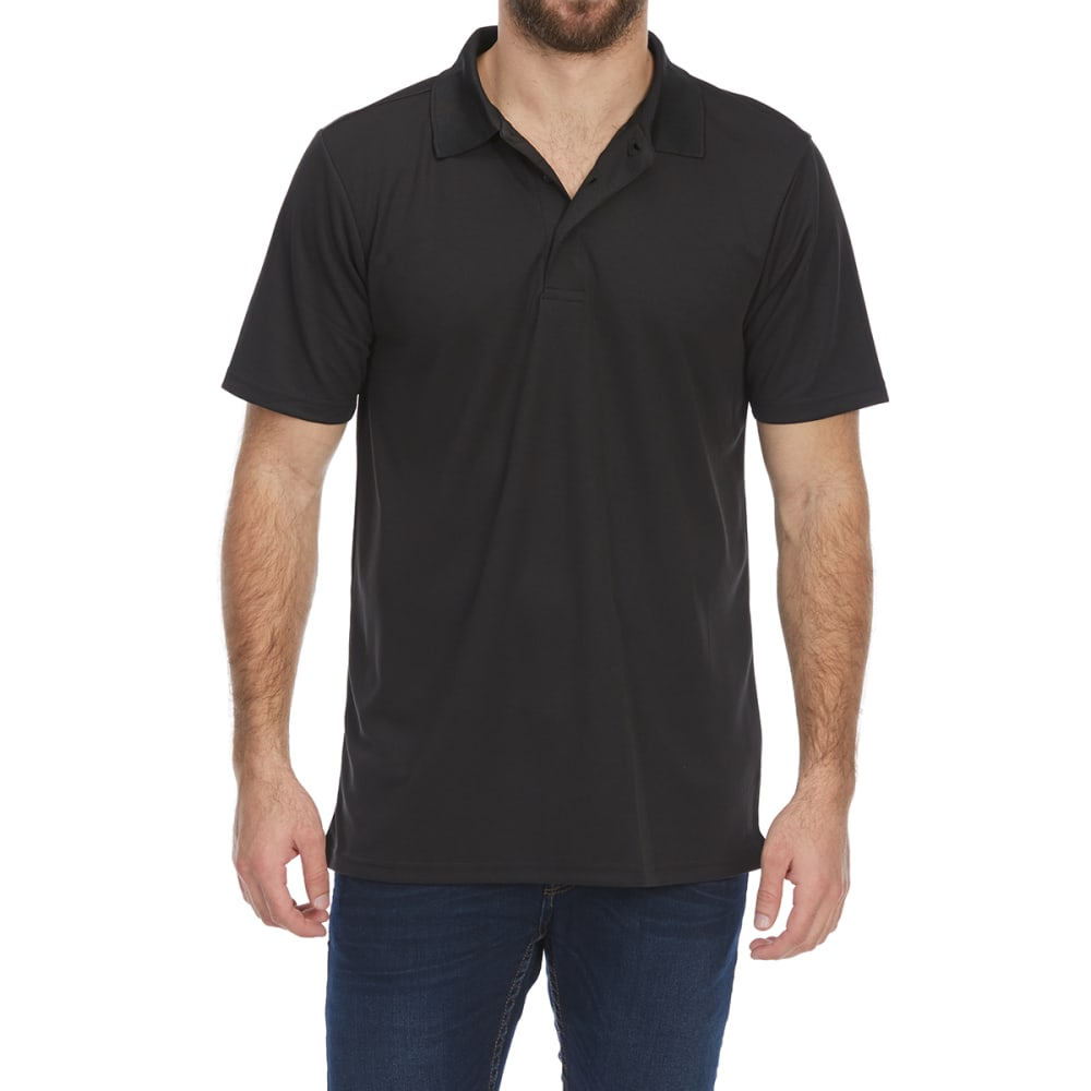 BCC Men's Short-Sleeve Polo Shirt - BLACK