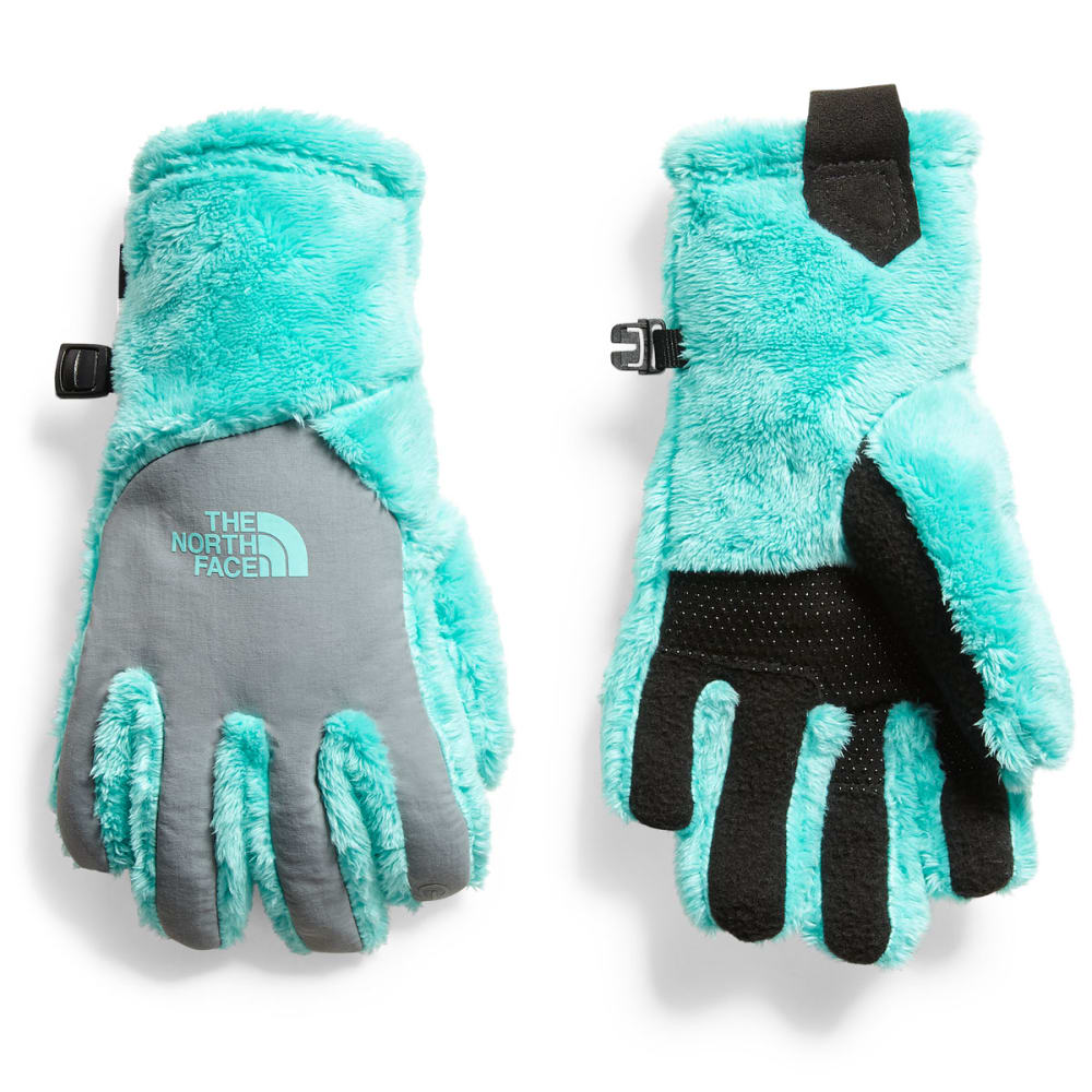 The North Face Girls Etip(TM) Osito Gloves - Blue, YOUTH S