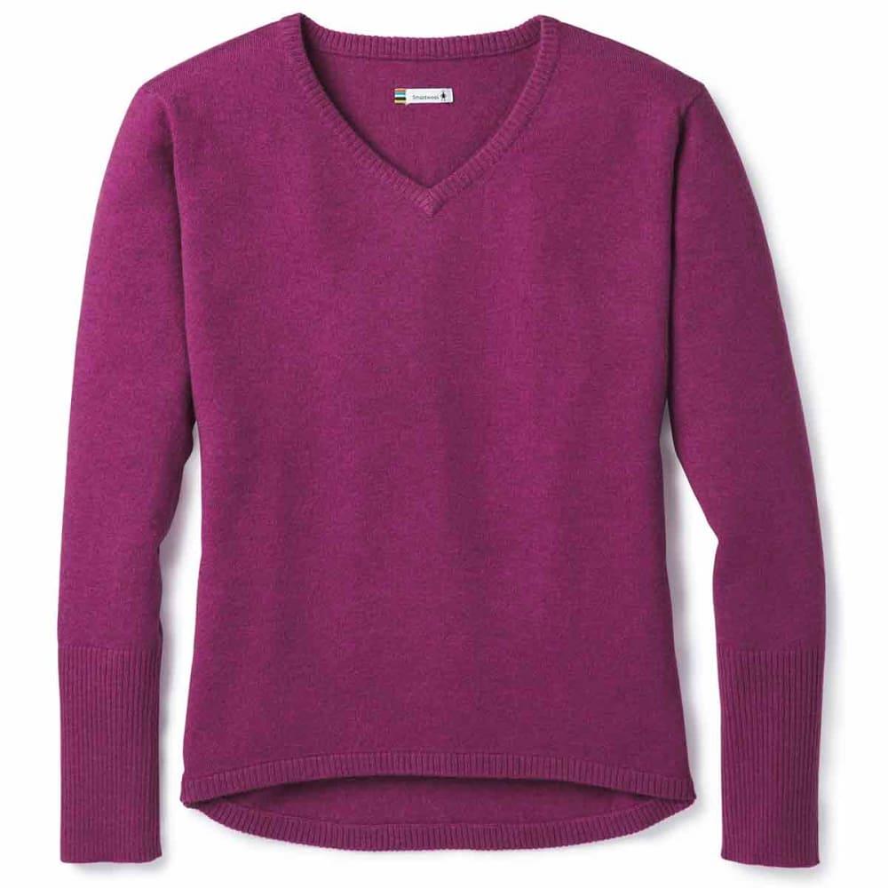 SMARTWOOL Women's Shadow Pine V-Neck Sweater XS