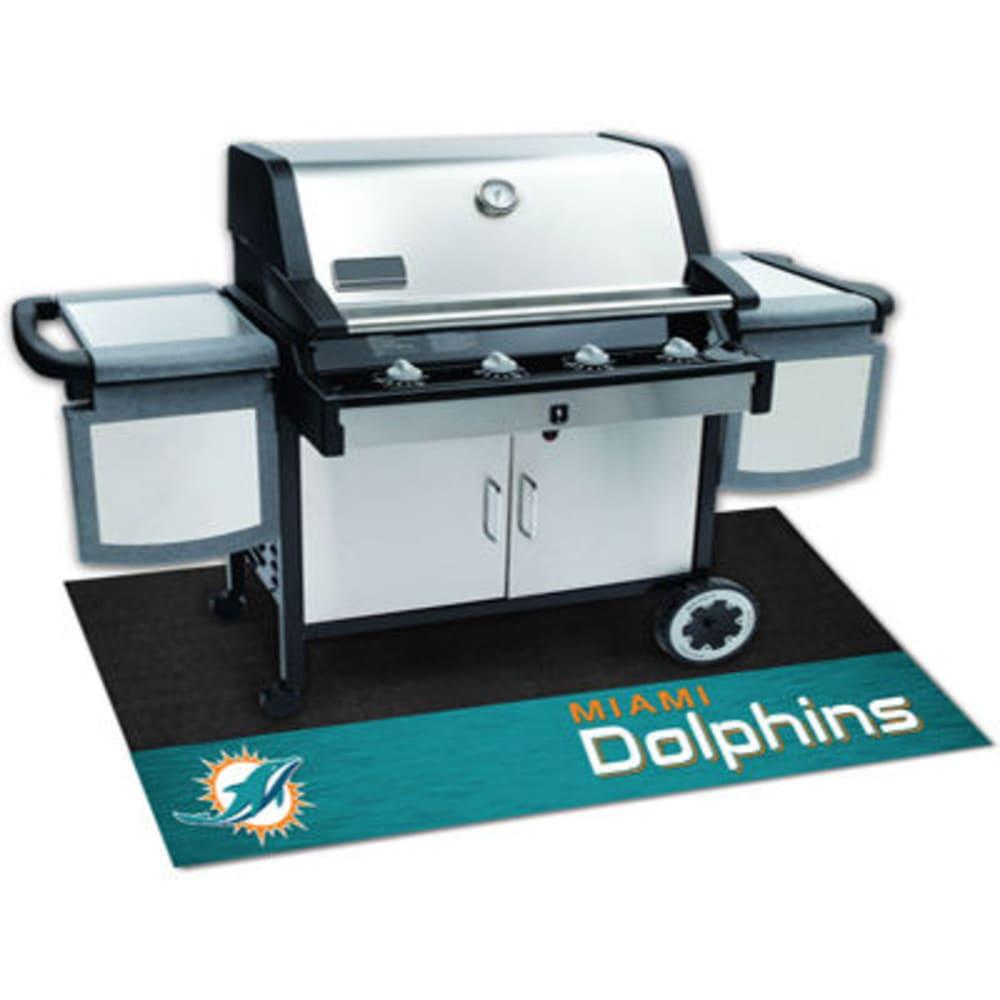 Fan Mats Miami Dolphins Grill Mat, Black/aqua