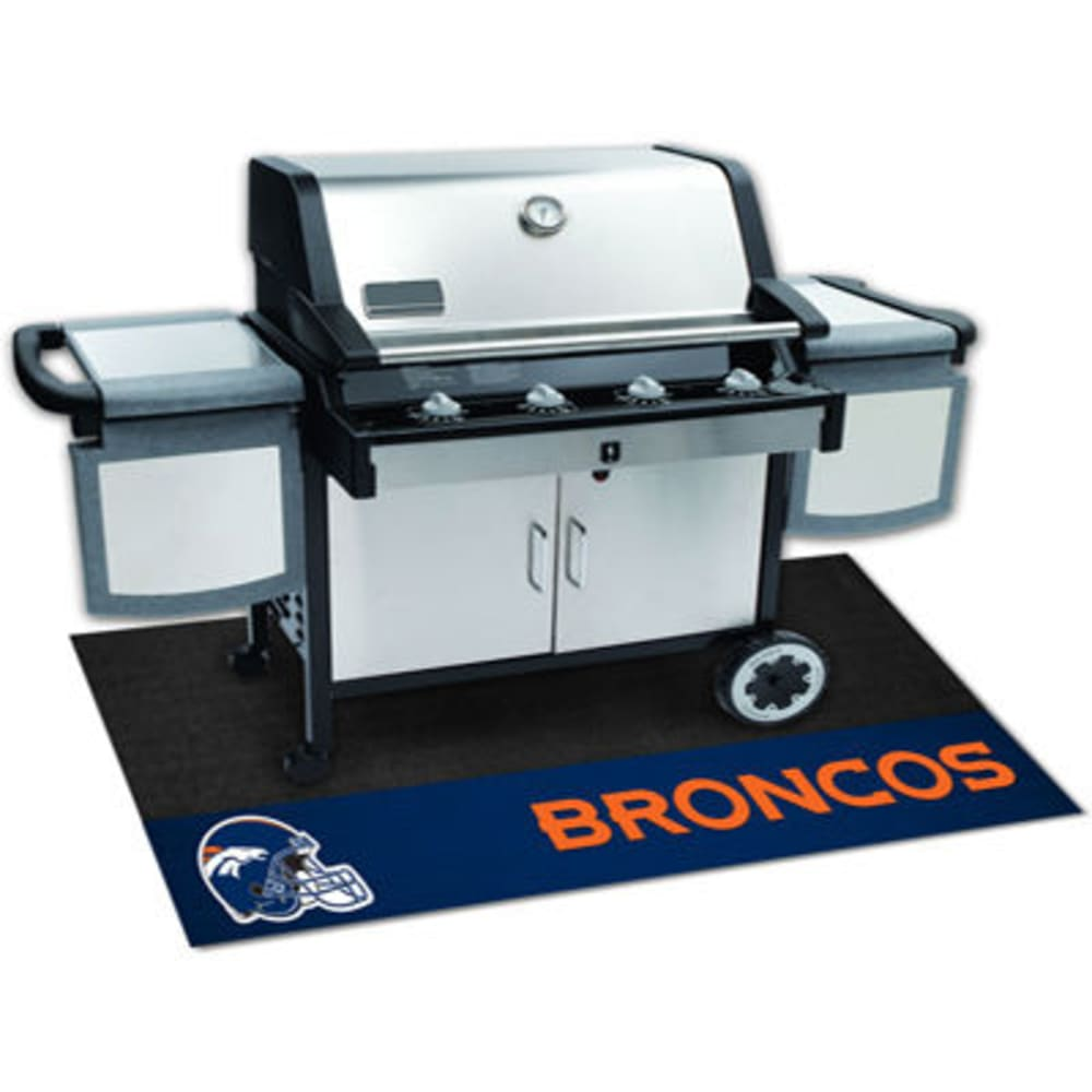 Fan Mats Denver Broncos Grill Mat, Black/blue