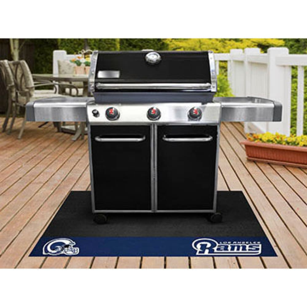 FAN MATS Los Angeles Rams Grill Mat, Black/Blue - BLACK/BLUE