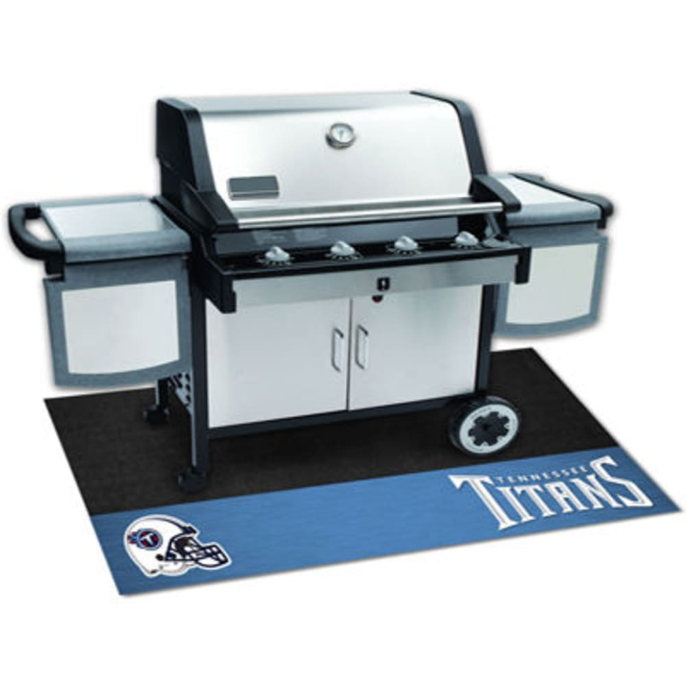 Fan Mats Tennessee Titans Grill Mat, Black/blue
