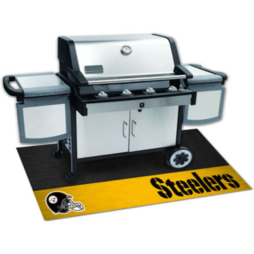 FAN MATS Pittsburgh Steelers Grill Mat, Black/Gold - BLACK/GOLD
