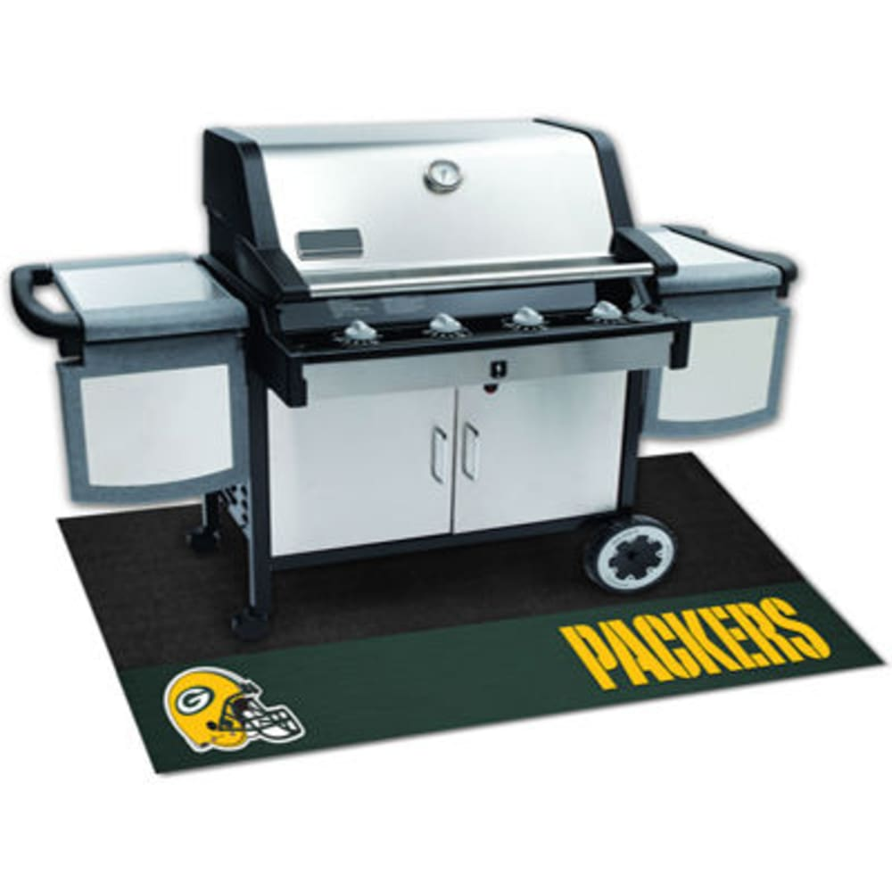 FAN MATS Green Bay Packers Grill Mat, Black/Green - BLACK/GREEN