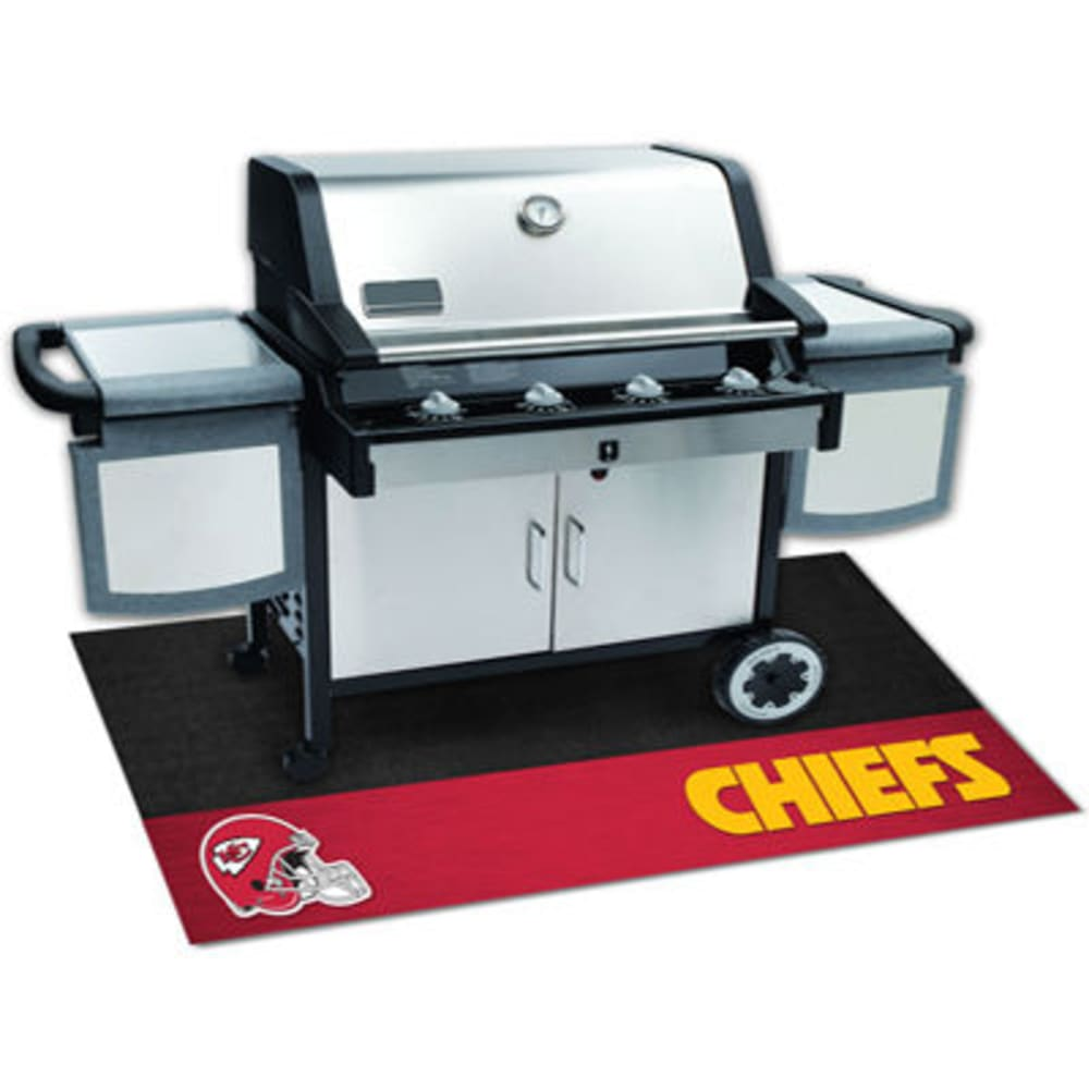 Fan Mats Kansas City Chiefs Grill Mat, Black/red