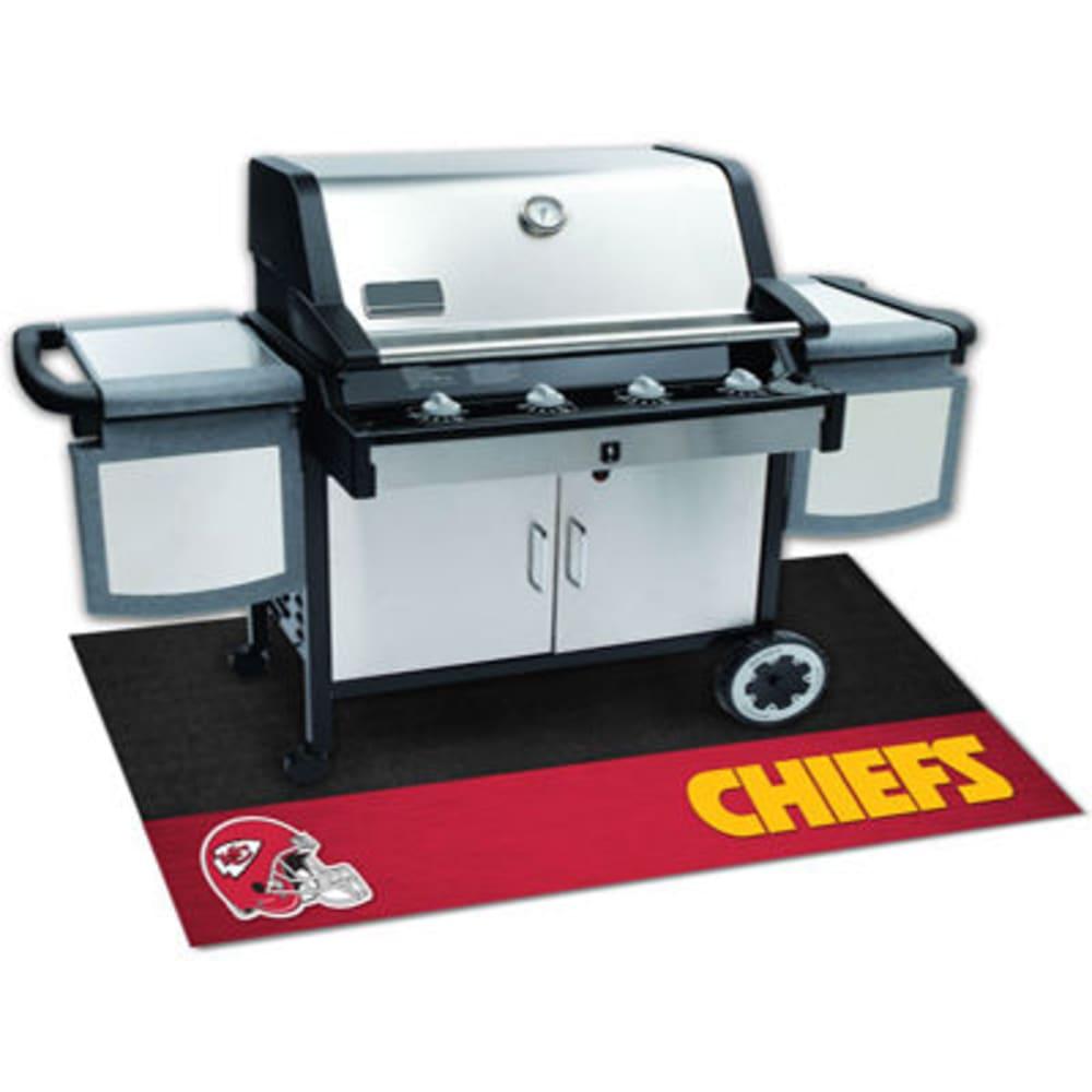 FAN MATS Kansas City Chiefs Grill Mat, Black/Red - BLACK/RED