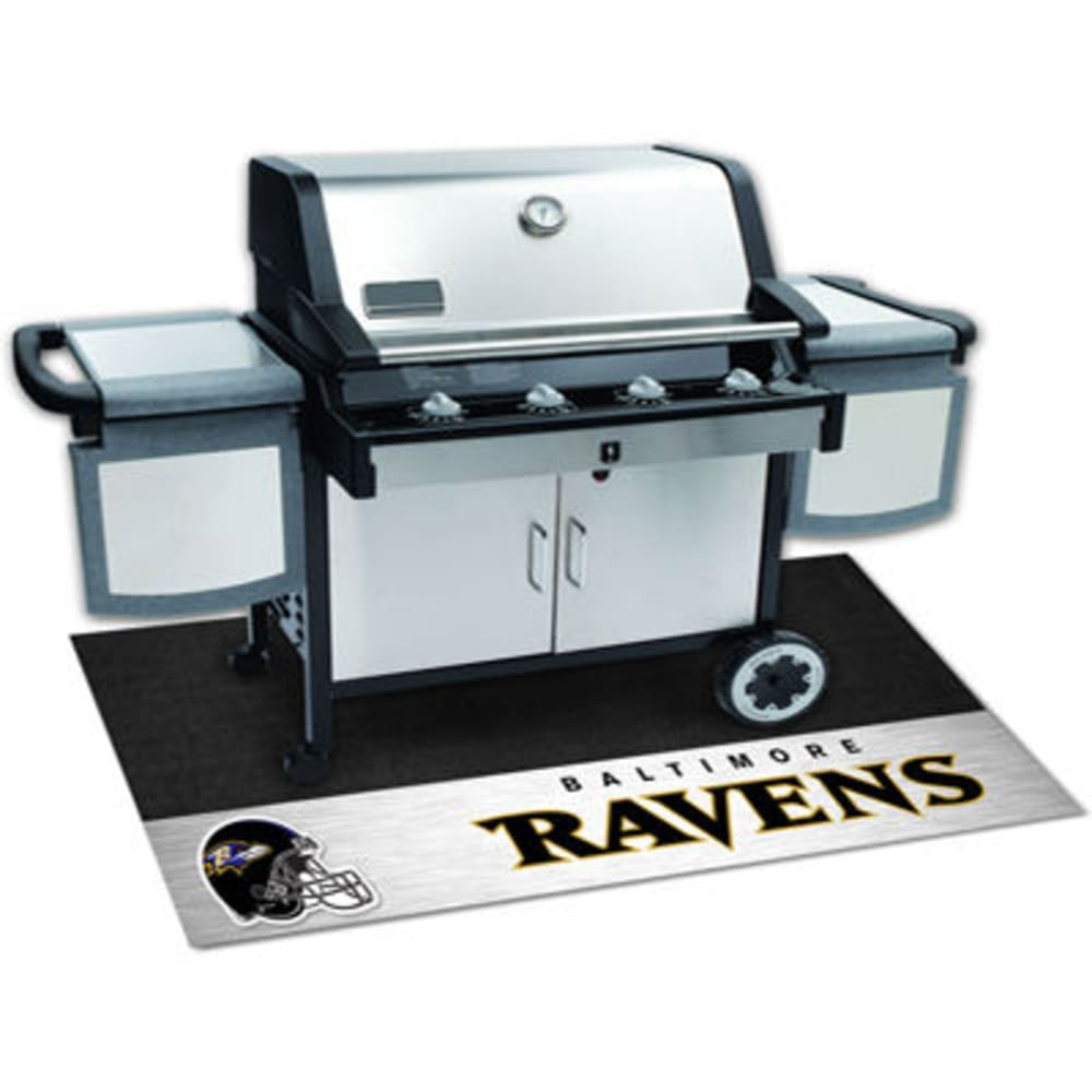 Fan Mats Baltimore Ravens Grill Mat, Black/silver
