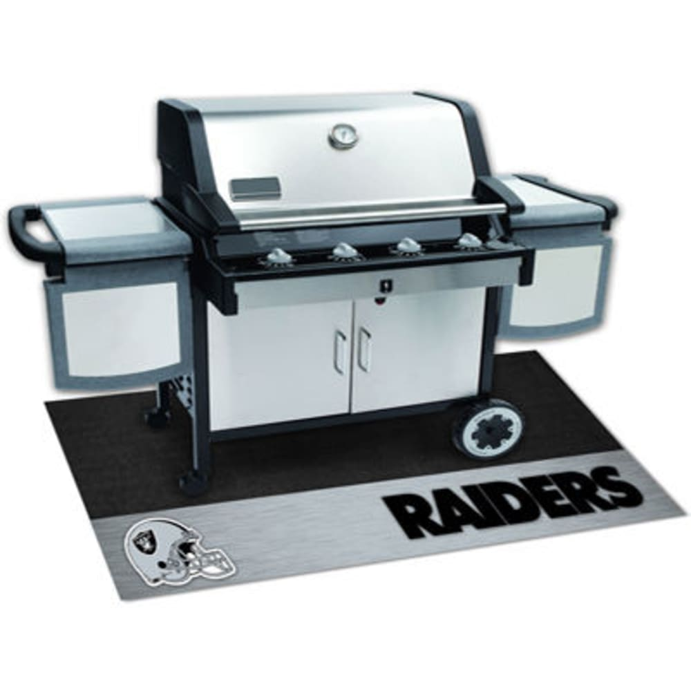 Fan Mats Oakland Raiders Grill Mat, Black/silver