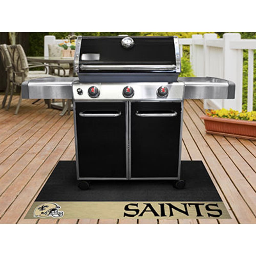 Fan Mats New Orleans Saints Grill Mat, Brown/old Gold