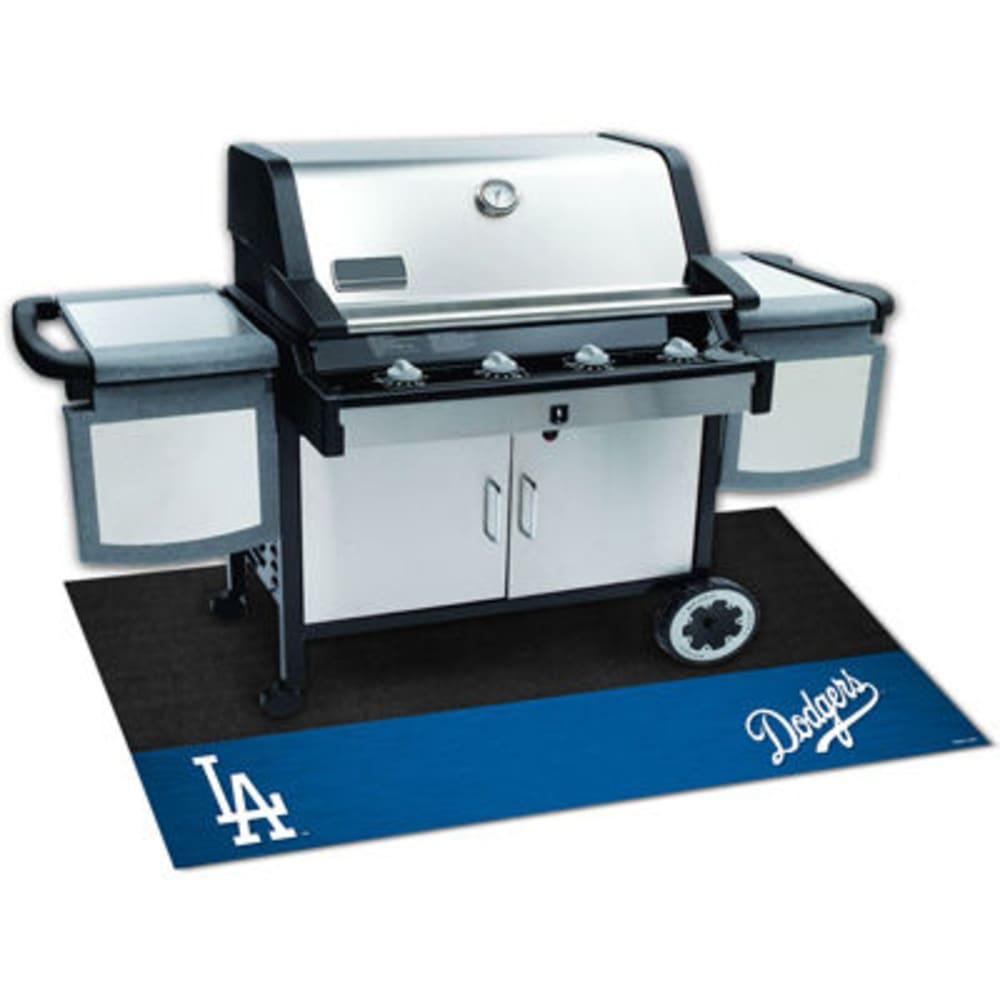 FAN MATS Los Angeles Dodgers Grill Mat, Black/Blue ONE SIZE