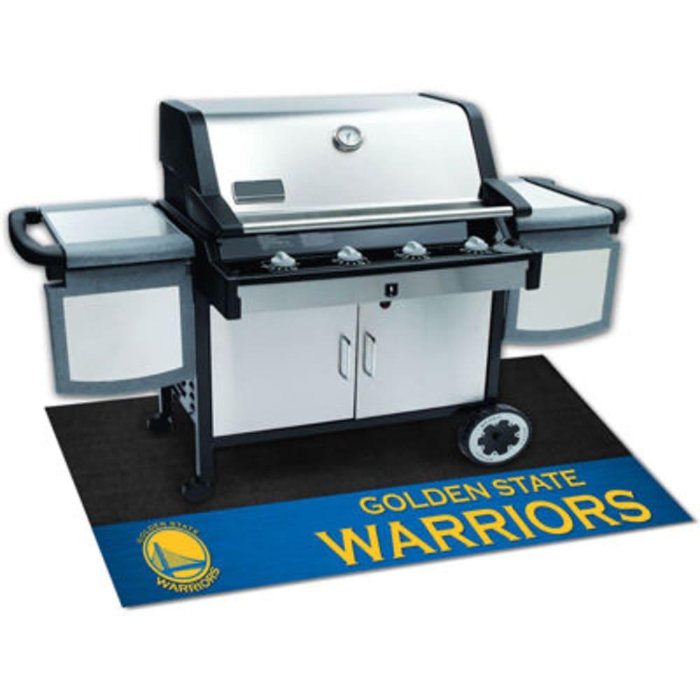 FAN MATS Golden State Warriors Grill Mat, Black/Blue - BLACK/BLUE