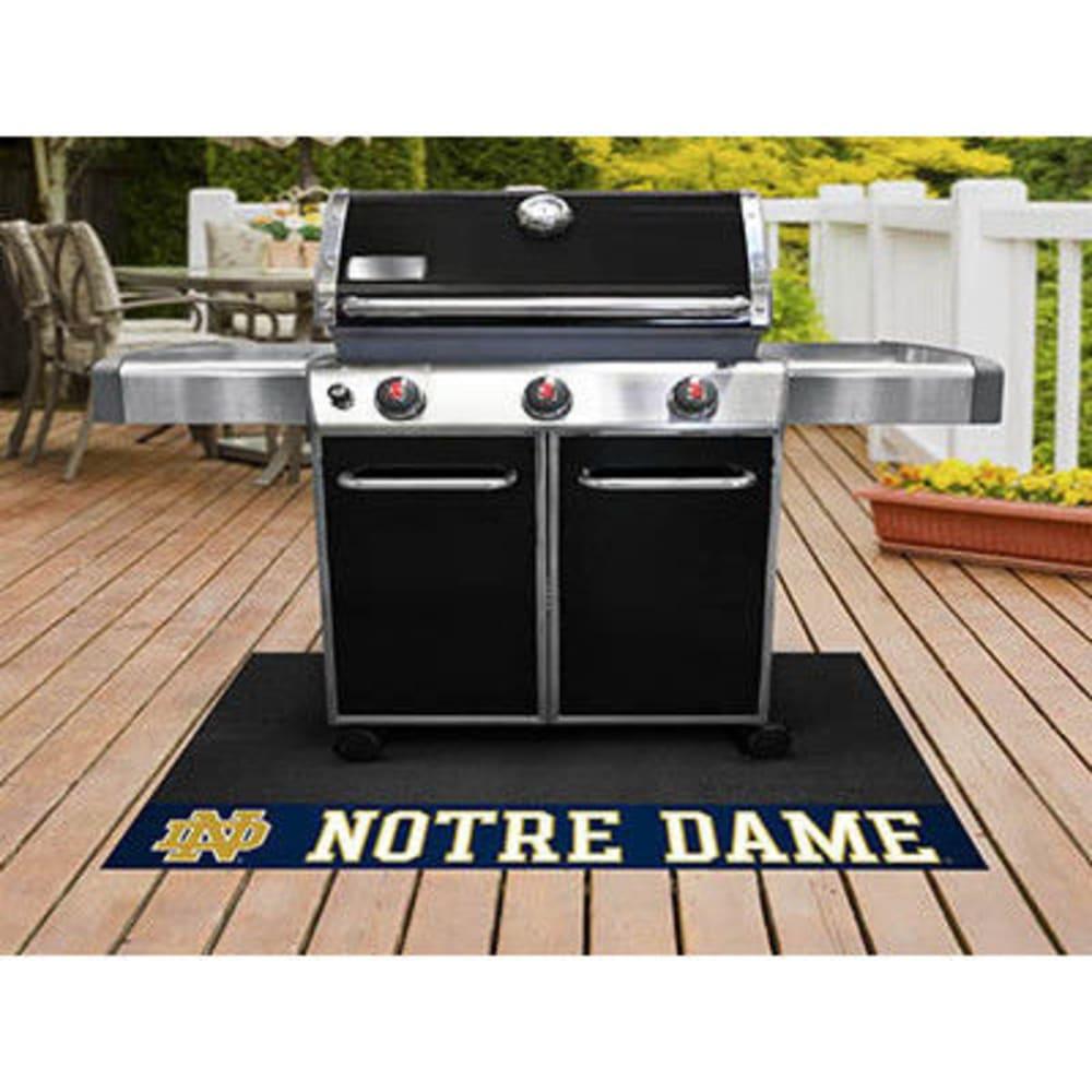 Fan Mats Notre Dame Grill Mat, Black/blue