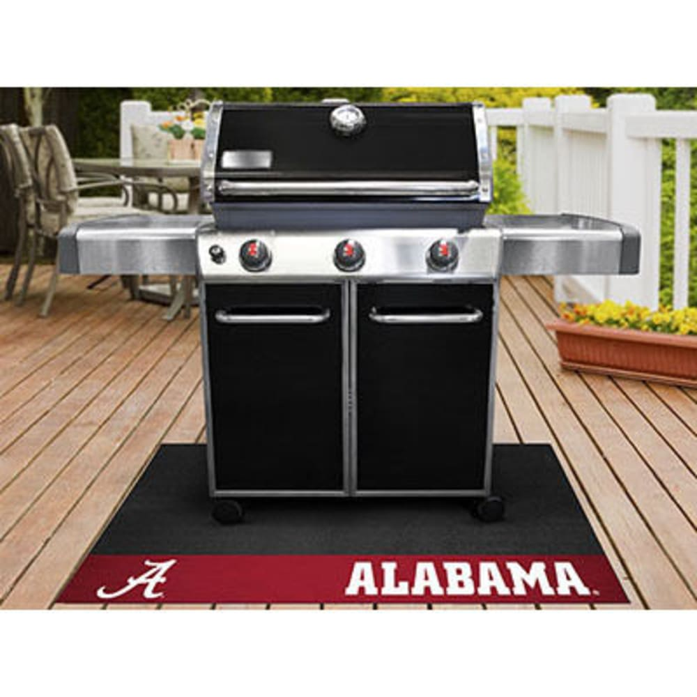 Fan Mats University Of Alabama Grill Mat, Black/crimson