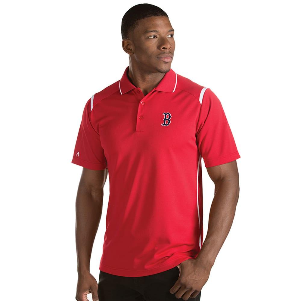 BOSTON RED SOX Men's Merit Short-Sleeve Polo Shirt - DK RED