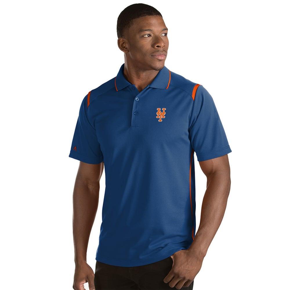 NEW YORK METS Men's Merit Short-Sleeve Polo Shirt - ROYAL BLUE