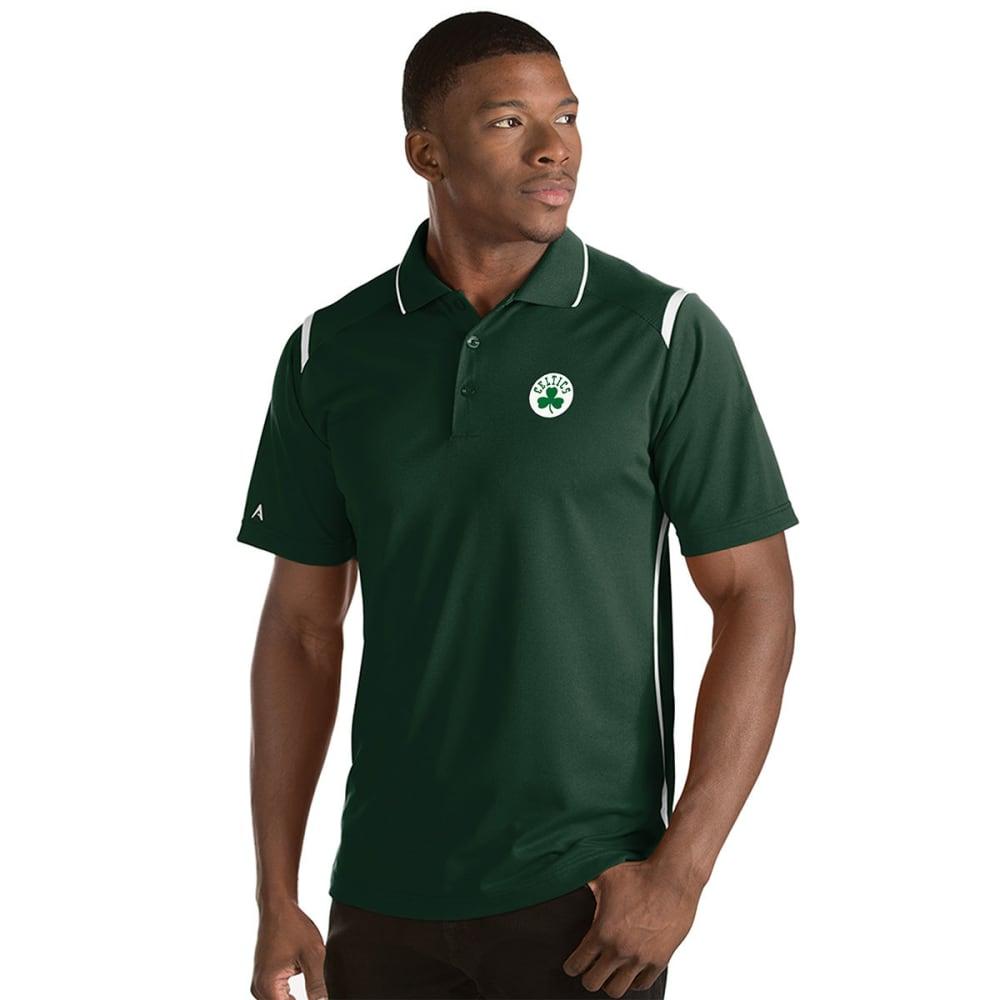 BOSTON CELTICS Men's Merit Short-Sleeve Polo Shirt - DK GREEN