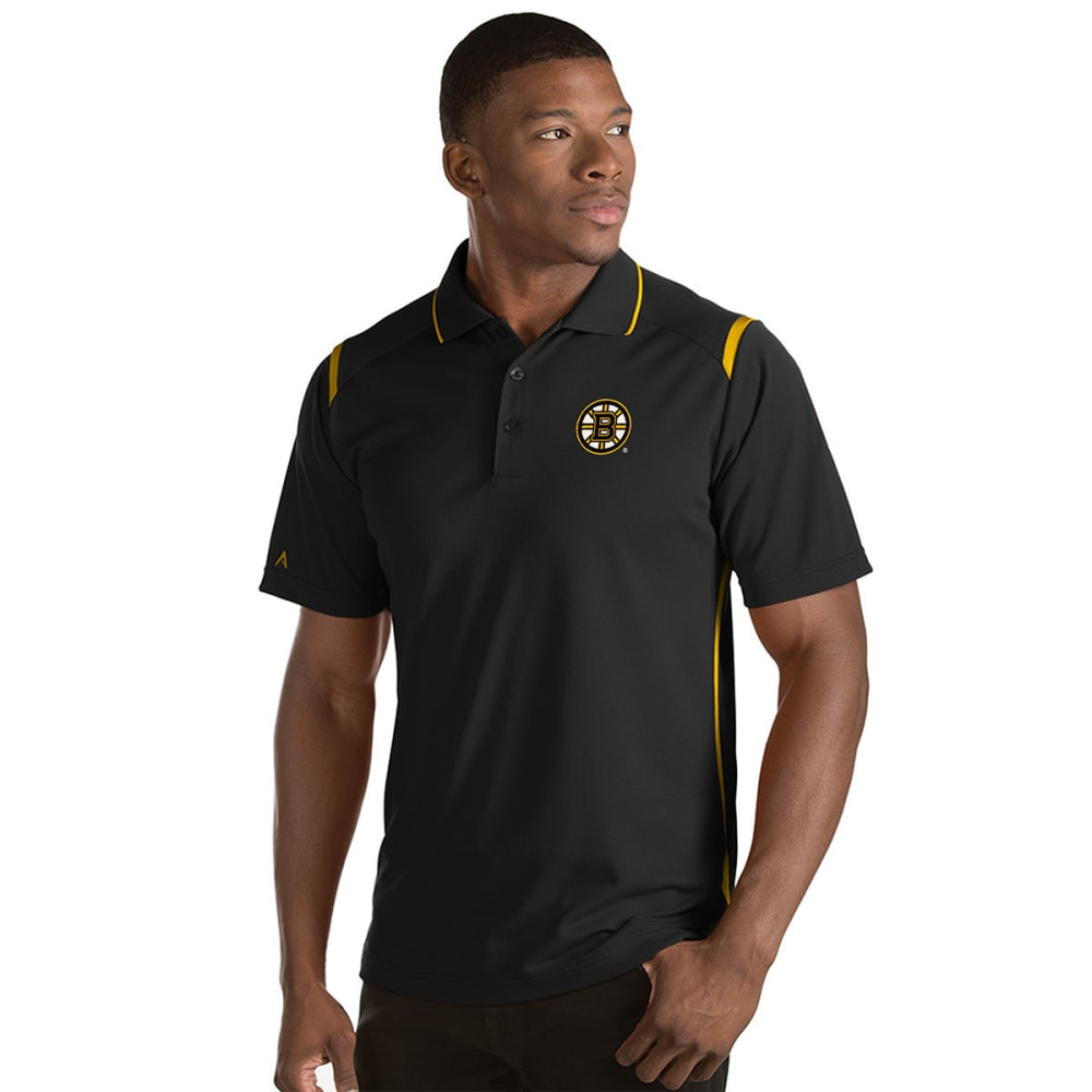 BOSTON BRUINS Men's Merit Short-Sleeve Polo Shirt - BLACK