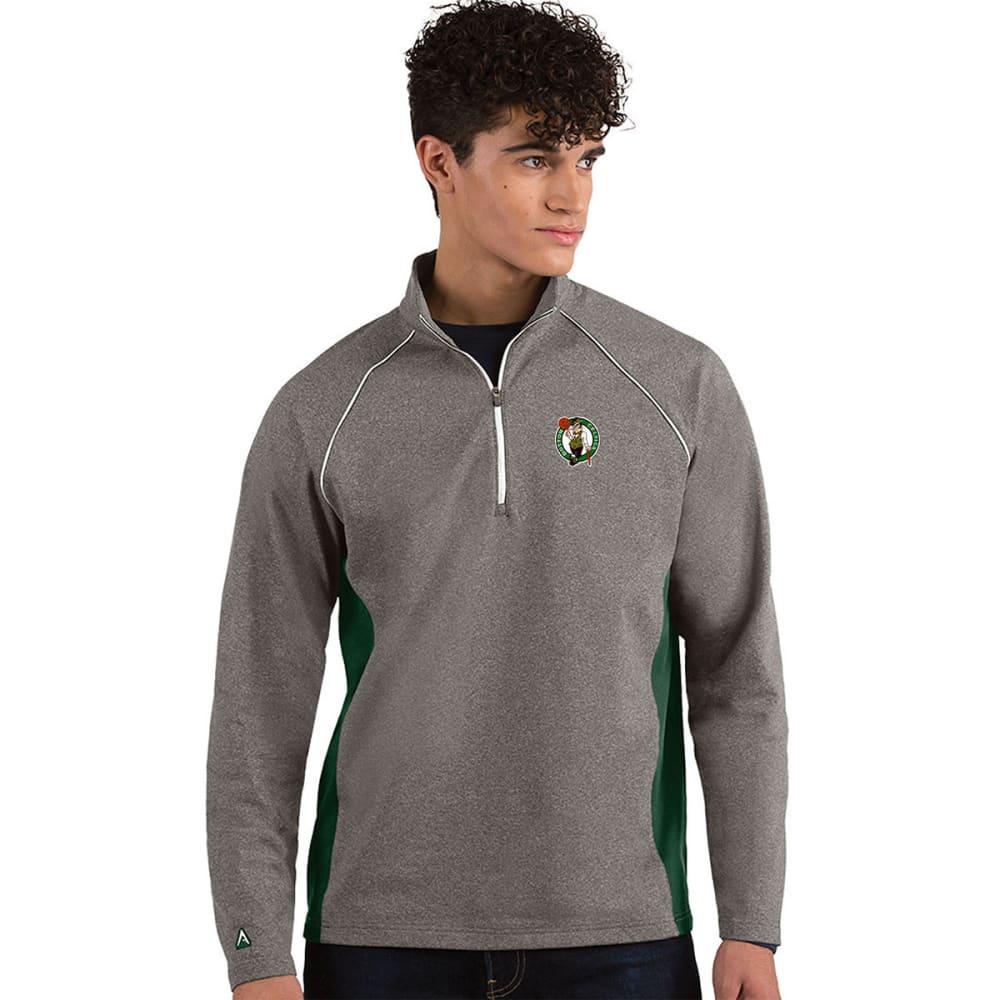 BOSTON CELTICS Men's Stamina Quarter Zip Pullover - CHARCOAL