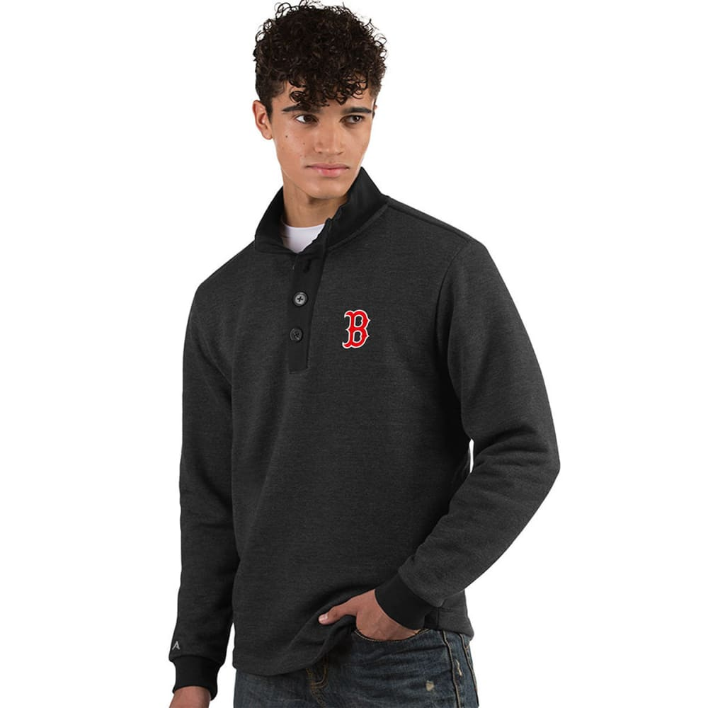 BOSTON RED SOX Men's Pivotal French Terry Long-Sleeve Top - NAVY